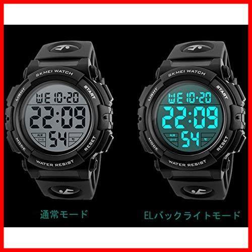 2F 新品 新品Timever(タイムエバー)デジタル腕時計 スポーツウォッチ 防水腕時計 watch アラーム 迅速対応 メンズ led 新品 新品 1T_画像5