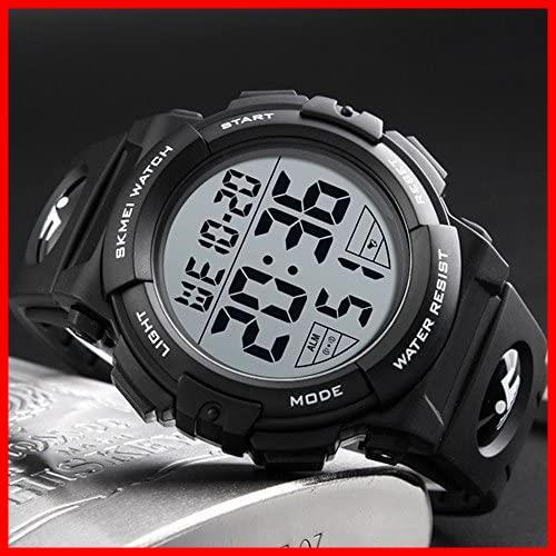 2F 新品 新品Timever(タイムエバー)デジタル腕時計 スポーツウォッチ 防水腕時計 watch アラーム 迅速対応 メンズ led 新品 新品 1T_画像3