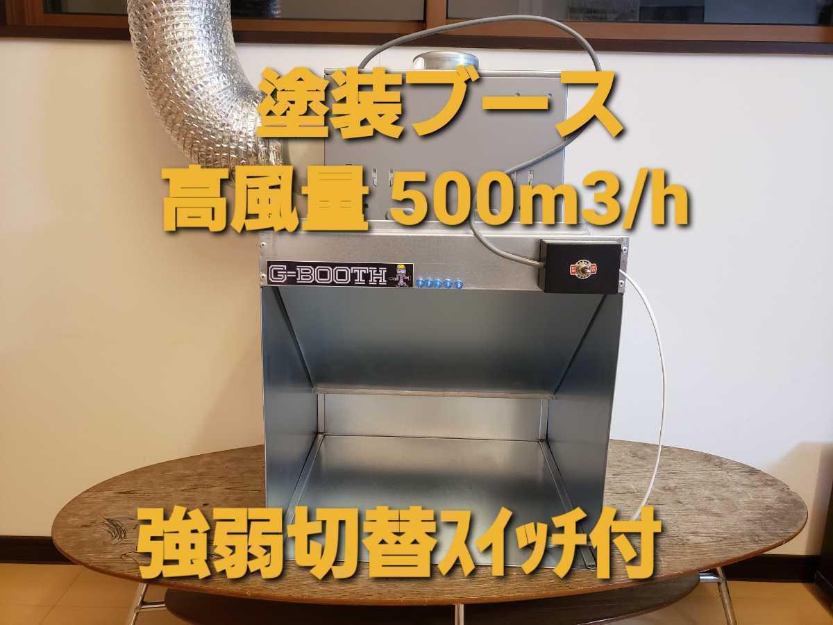 G-Booth 塗装研磨ブース 実用新案登録モデル 大風量低騒音 最大500m3/h 強弱切替スイッチ付+ダクト3m+取換フィルター5枚 送料無料_画像1