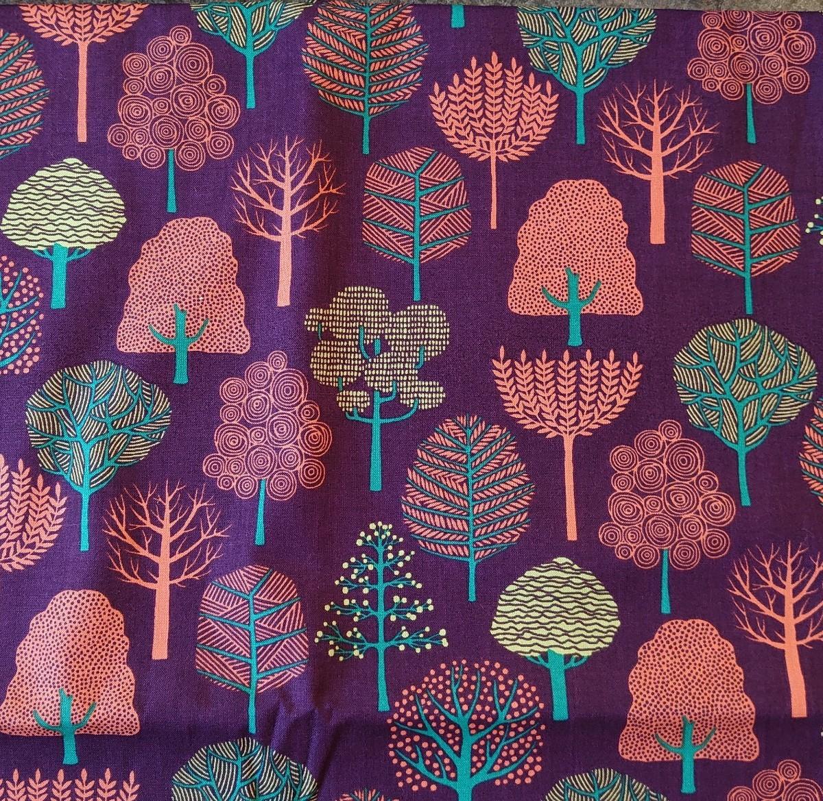 シーチング生地  静かな 森 105×100cm フォレスト