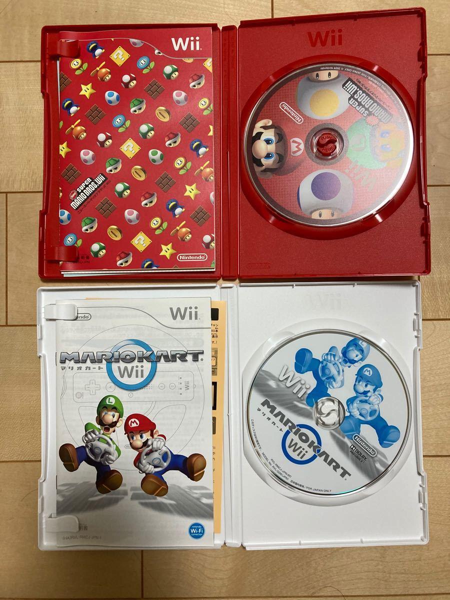 2人ですぐに遊べるセット 任天堂wii本体マリオ マリカーセット Wiiマリオカート Wiiハンドル ソフト