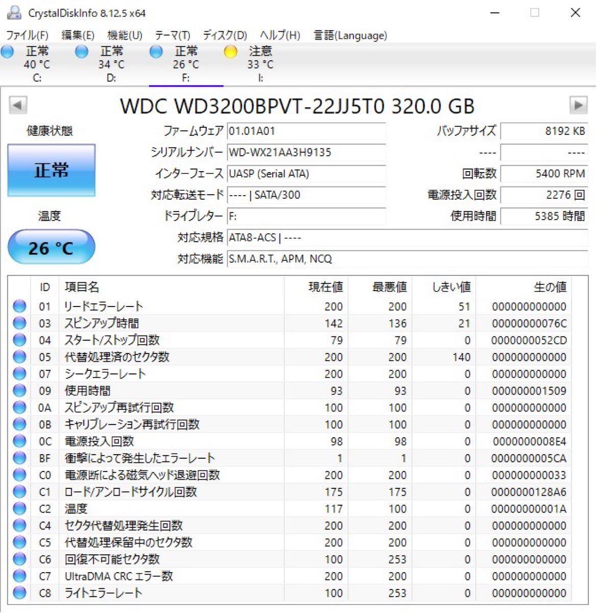 外付けポータブルHDD USB3.0 赤 320GB