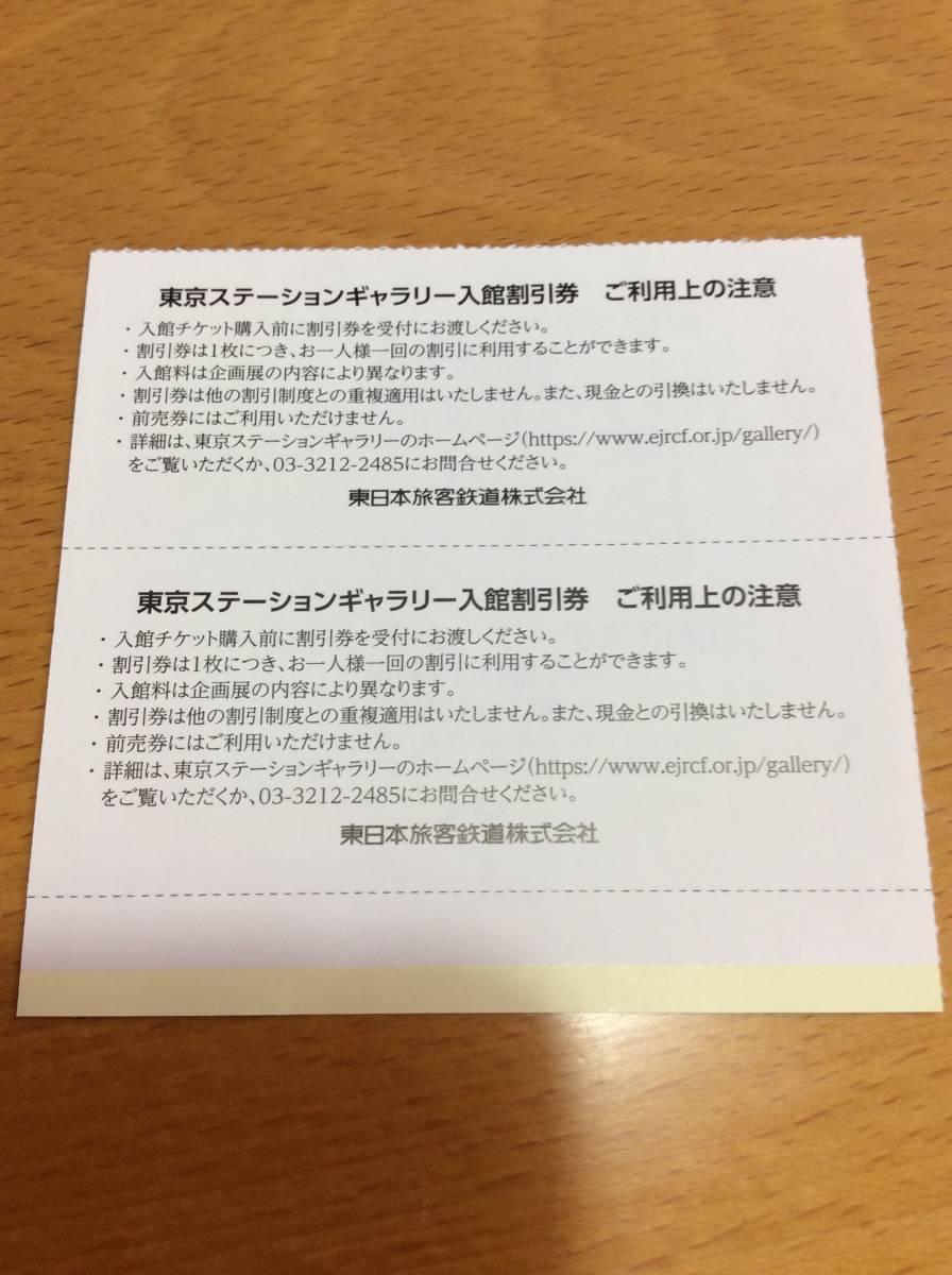 ◆ JR東日本株主優待割引券 ★ 東京ステーションギャラリー 入館割引券 ★ 2枚セット_画像2