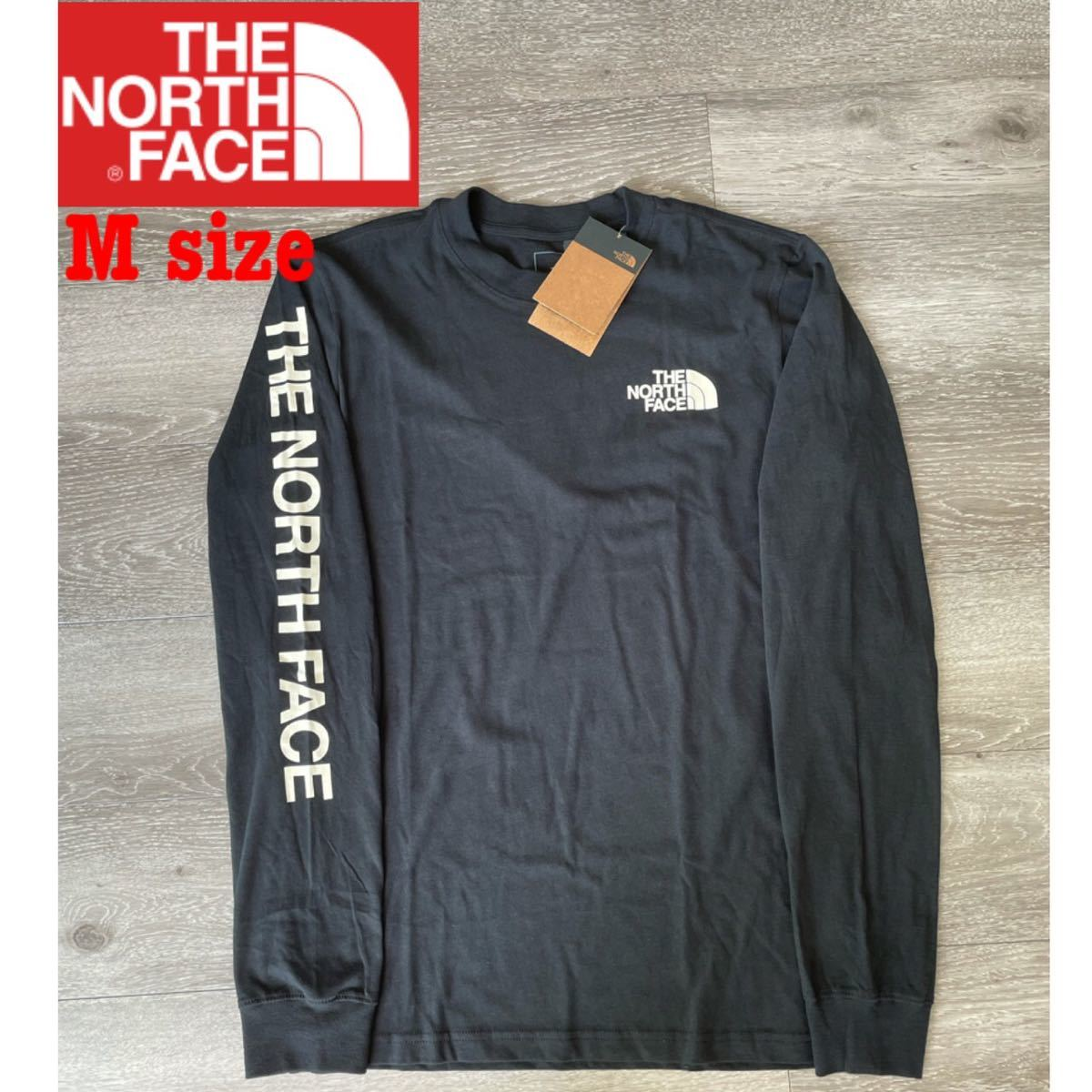 ザ ノースフェイス ロンT sleeve hit 長袖Tシャツ 袖ロゴ M THE NORTH FACE ロングスリーブ 新品
