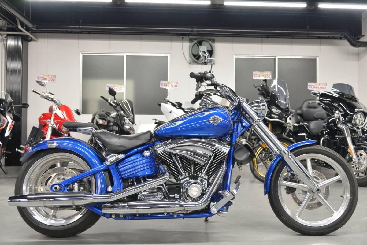 「FXCWC ソフテイルロッカーC モノトーンブルー ETC 社外エアクリカバー 他 +全国送料8.000円 ケーズバイク」の画像1