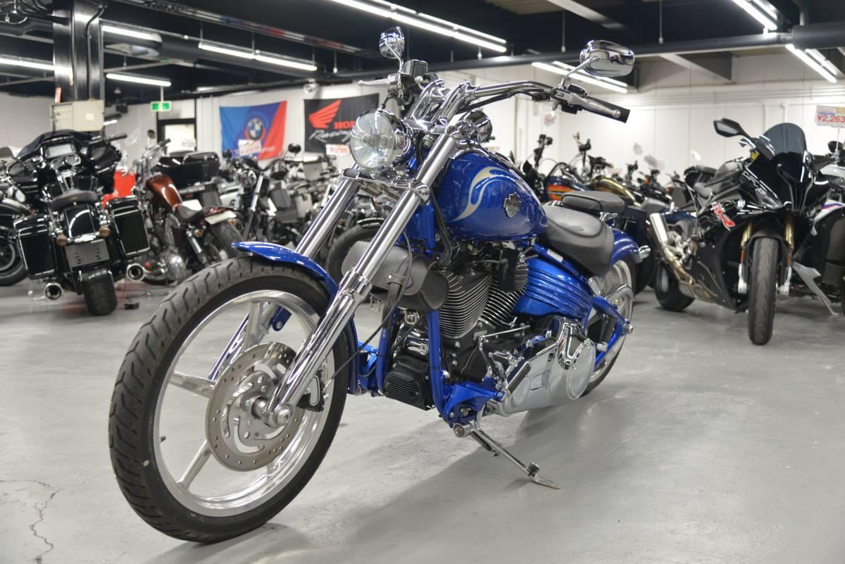 「FXCWC ソフテイルロッカーC モノトーンブルー ETC 社外エアクリカバー 他 +全国送料8.000円 ケーズバイク」の画像3