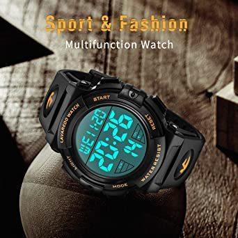 02.ゴールド 腕時計 メンズ デジタル スポーツ 50メートル防水 おしゃれ 多機能 LED表示 アウトドア 腕時計_画像4