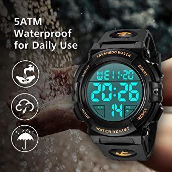02.ゴールド 腕時計 メンズ デジタル スポーツ 50メートル防水 おしゃれ 多機能 LED表示 アウトドア 腕時計_画像5