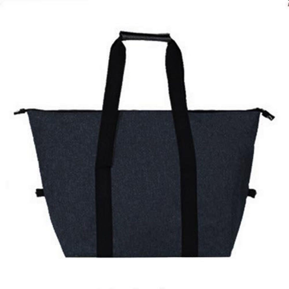 保温保冷バッグ 大サイズ ブラック 大容量 黒 肩掛け 2way エコバッグ  トートバッグ