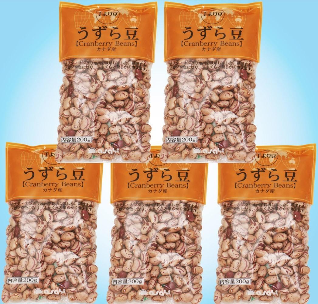 豆力 豆専門店のうずら豆(クランベリー豆) 1kg(200g×5袋)_画像1