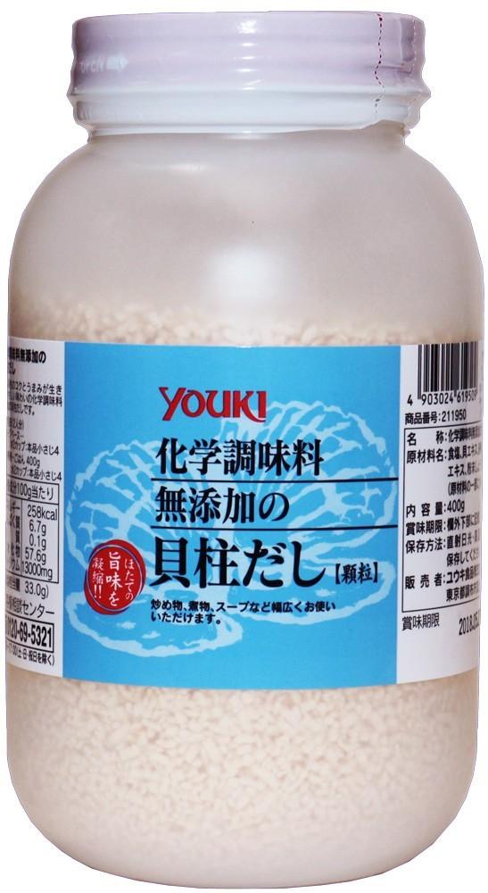 ユウキ食品 化学調味料無添加の貝柱だし 400g   【YOUKI 顆粒 マコーミック 中華調味料 和風調味料】_画像1