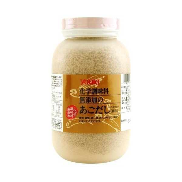 ユウキ食品 化学調味料無添加のあごだし 400g ×12個  【YOUKI 顆粒 マコーミック 和風だし 和食】_画像1