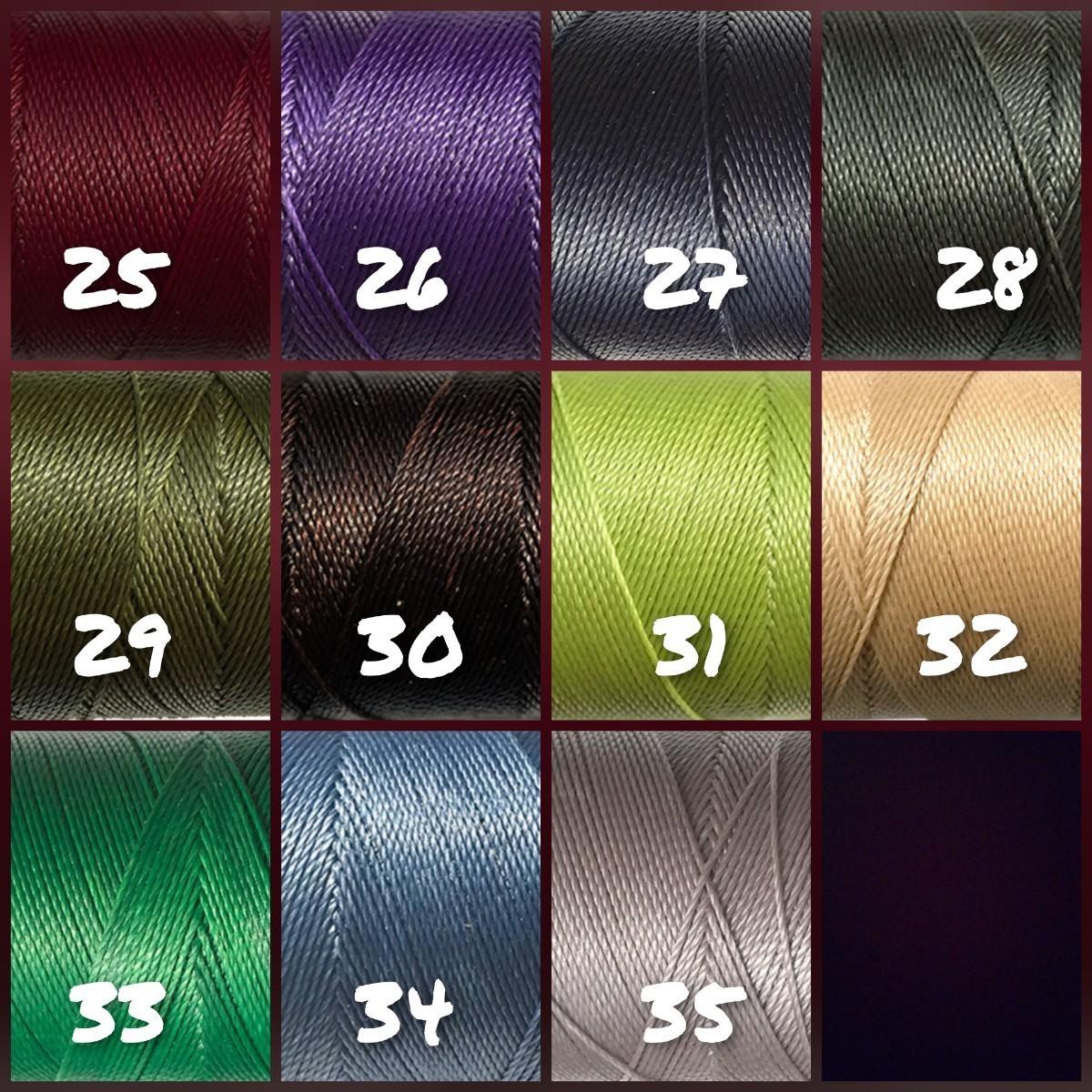 選べる35色 LINHASITA ワックスコード 0.75mm 100m