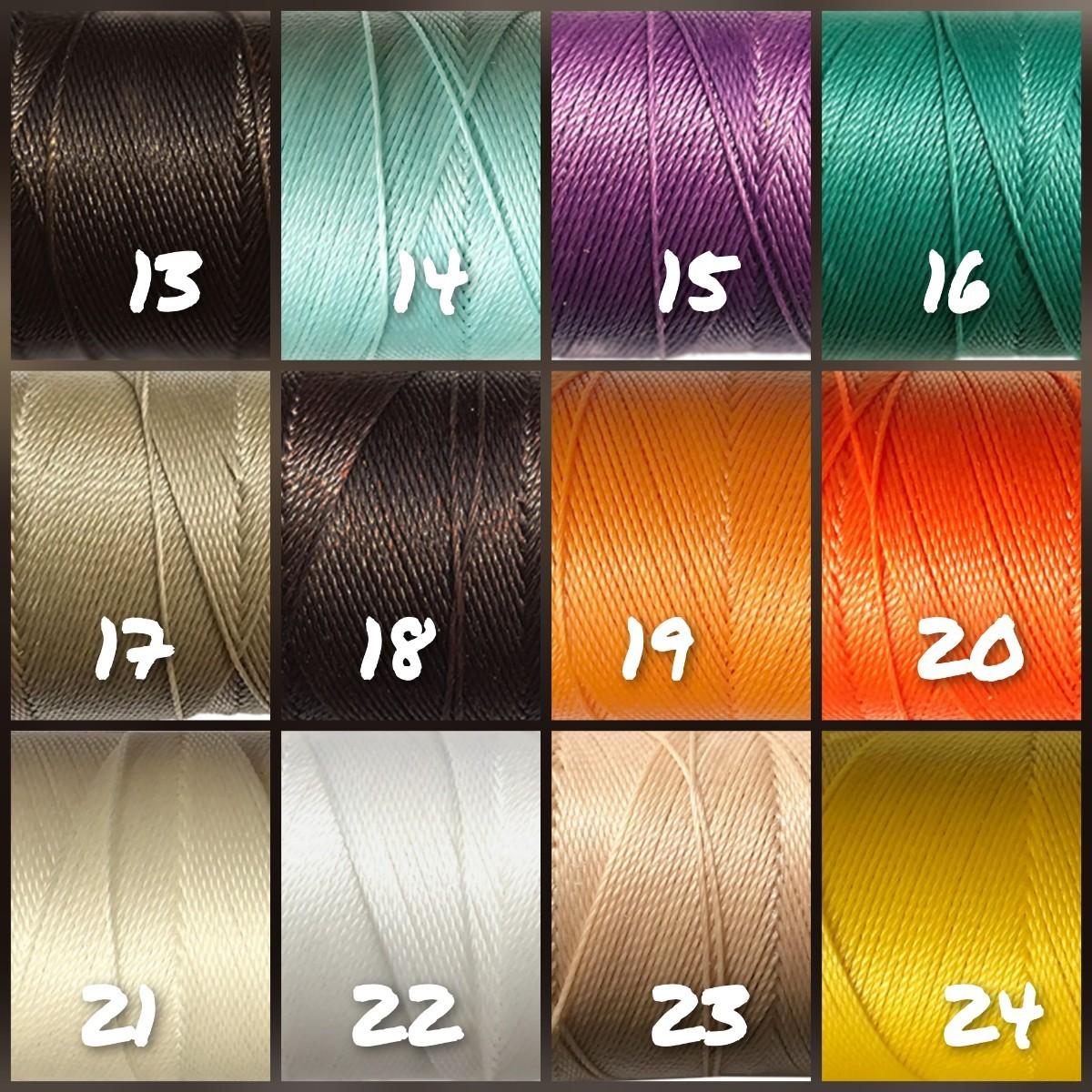 選べる35色 LINHASITA ワックスコード 0.75mm 20m