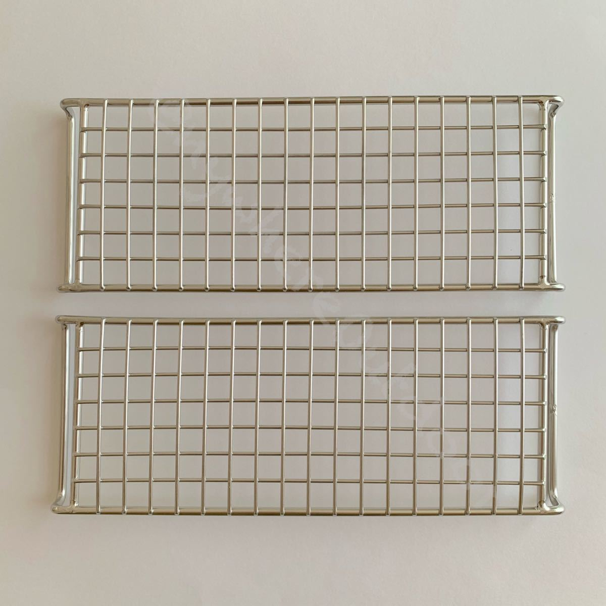 ロストル網目タイプ2枚セットアウトドア用品BBQ五徳焚き火台焼き網ステンレス軽量