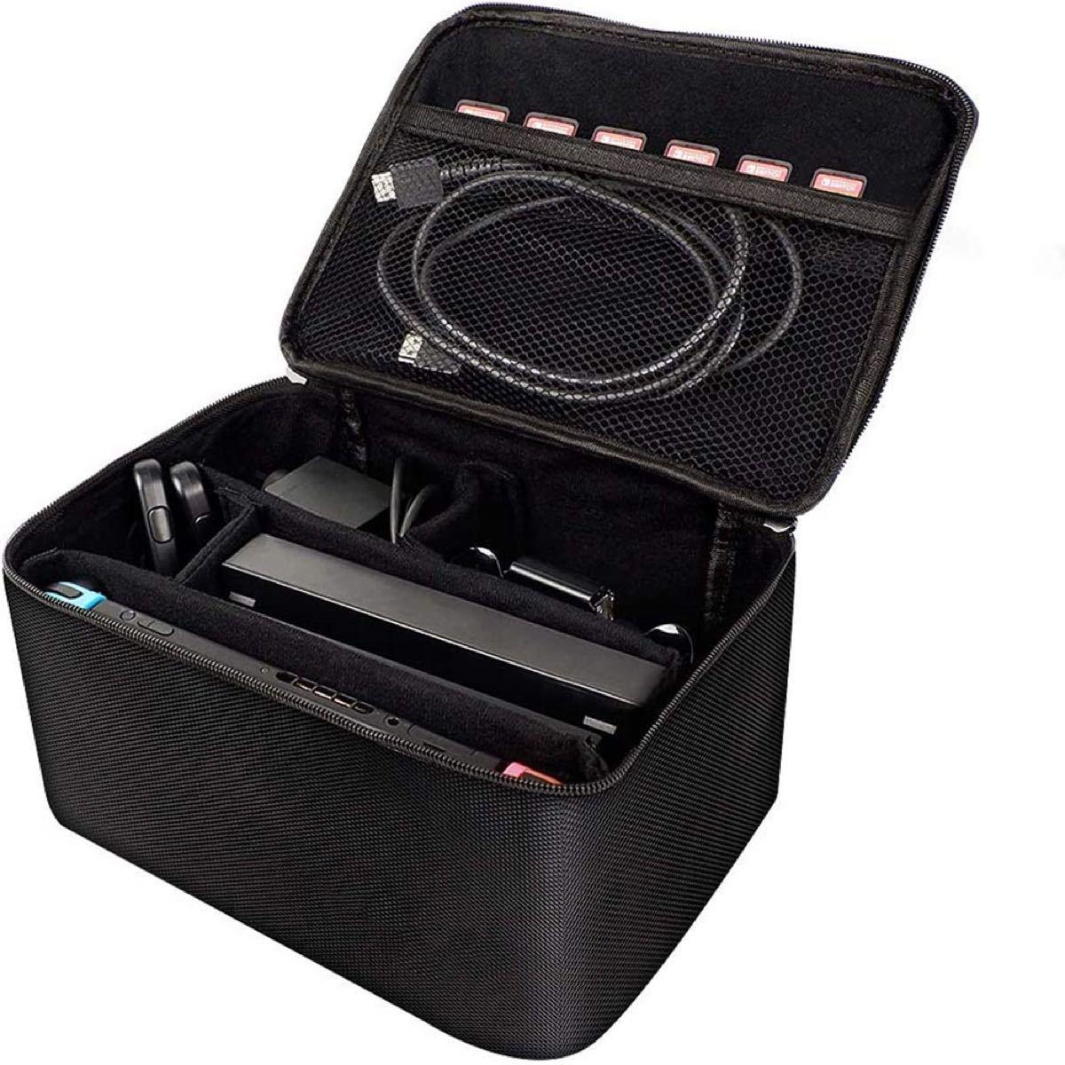Switch専用収納バッグ スイッチ保護ケース 外出や旅行用収納バッグ 大容量 1680Dナイロン素材 防塵 防汚 防水 耐衝撃