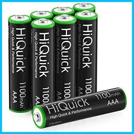 ★ニッケル水素電池1100mAh 約1200回使用可能 単四充電池セット HiQuick ケース2個付き 単4充電池 M7-H8 8本入り 単4電池 充電式 電池 単4_画像1