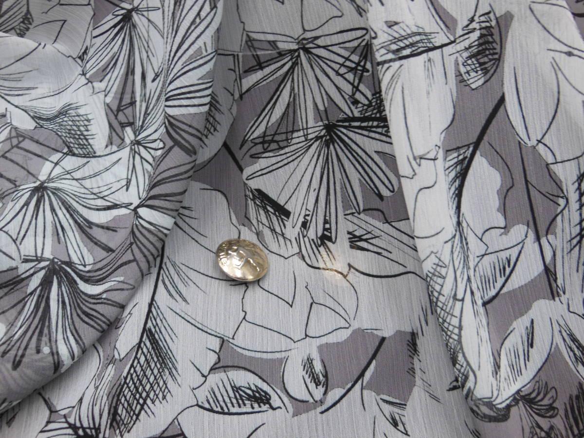 新入荷!掘り出し品!日本製!高級ブランドオリジナル!なかなか手に入らない!ソフトシホン楊柳!糸細上質ポリエステル!150cm巾×2m_日本製高級ブランドシホンクレーププリント