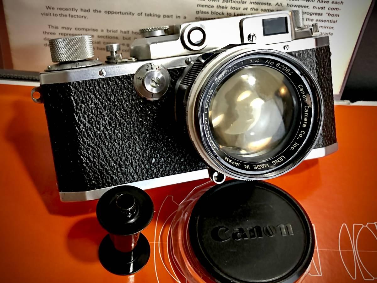 お値打ちジャンク品 Canon キヤノンII D 大口径Lマウントレンズ(Canon LENS 50mm f1.4 ライカLマウント L39)セット