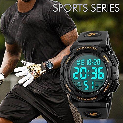 Timever(タイムエバー)デジタル腕時計 メンズ 防水腕時計 led watch スポーツウォッチ アラーム ストップウォッ_画像3