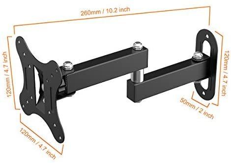 【送料無料】 左右移動式 OLED液晶テレビ対応 LED 耐荷重10kg 14-27インチLCD Himino VESA アーム式 上下左右角度調節 規格_画像7