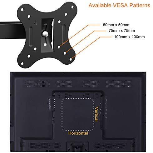 【送料無料】 左右移動式 OLED液晶テレビ対応 LED 耐荷重10kg 14-27インチLCD Himino VESA アーム式 上下左右角度調節 規格_画像5