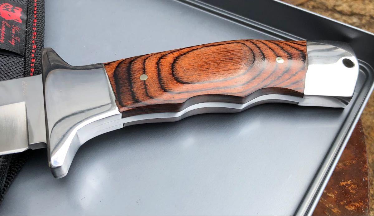 コロンビアナイフ G09 フルタング ウッドハンドル アウトドアナイフ