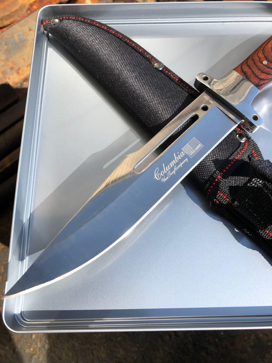 コロンビアナイフ G08 フルタング ウッドハンドル アウトドアナイフ