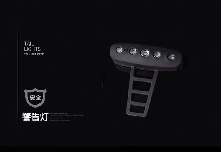 自転車用テールライト USB充電式 最大30時間まで ゴムバンド式 夜道の事故防止に IPX2防水仕様 5個高輝度LED搭載 USBTL11_画像4