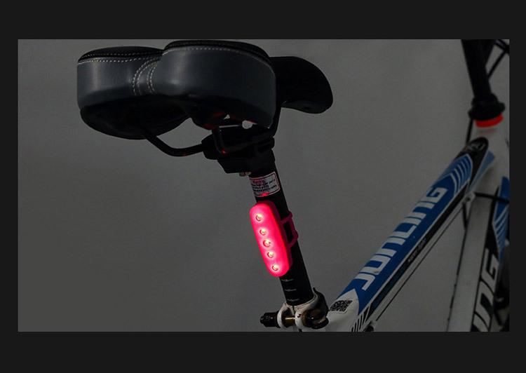 自転車用テールライト USB充電式 最大30時間まで ゴムバンド式 夜道の事故防止に IPX2防水仕様 5個高輝度LED搭載 USBTL11_画像10
