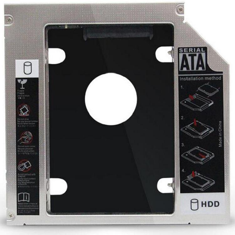 ノートPC専用2.5インチHDDマウンタ SSD対応 光学ドライブ SATA接続 9.5mm 余ったHDDを有効利用に DRMOU12795/95_画像1