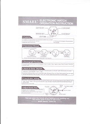 【新品未使用】_腕時計 メンズ SMAEL腕時計 メンズウォッチ 防水 スポーツウォッチ アナログ表示 デジタル クオーツ腕時計  多機能_画像7