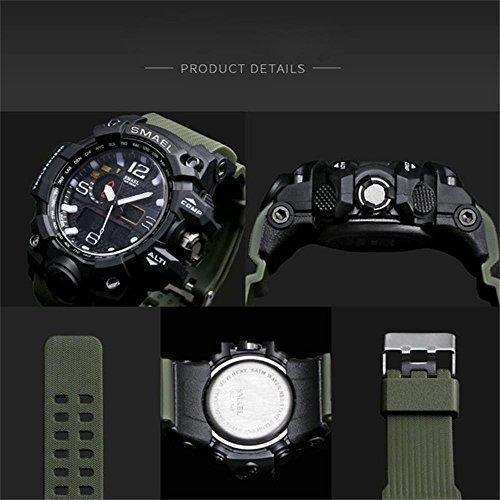 【新品未使用】_腕時計 メンズ SMAEL腕時計 メンズウォッチ 防水 スポーツウォッチ アナログ表示 デジタル クオーツ腕時計  多機能_画像6