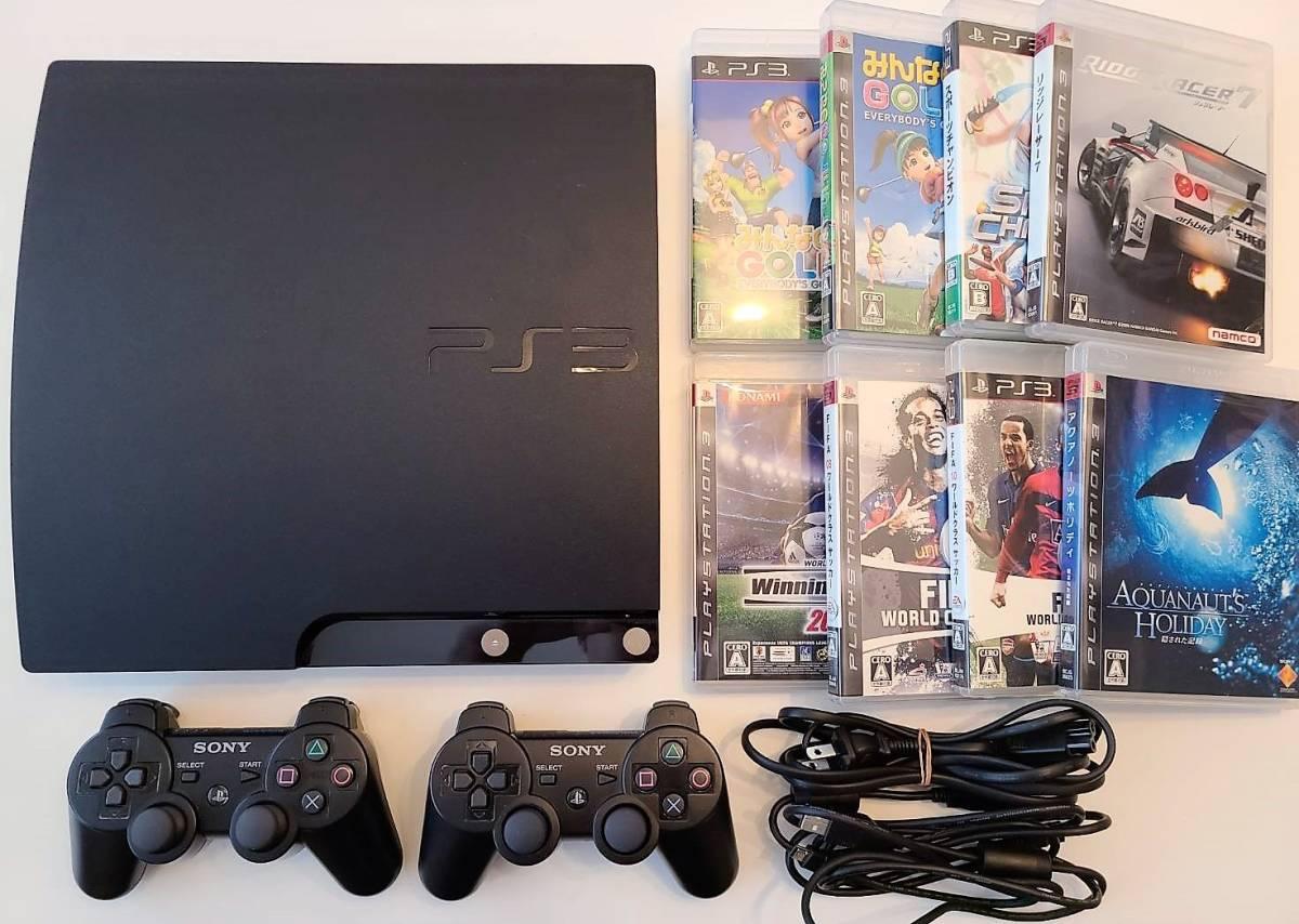 ★☆【中古美品】SONY PlayStation3 PS3 プレイステーション3(120GB)CECH-2000A コントローラー×2 ソフト付き☆★