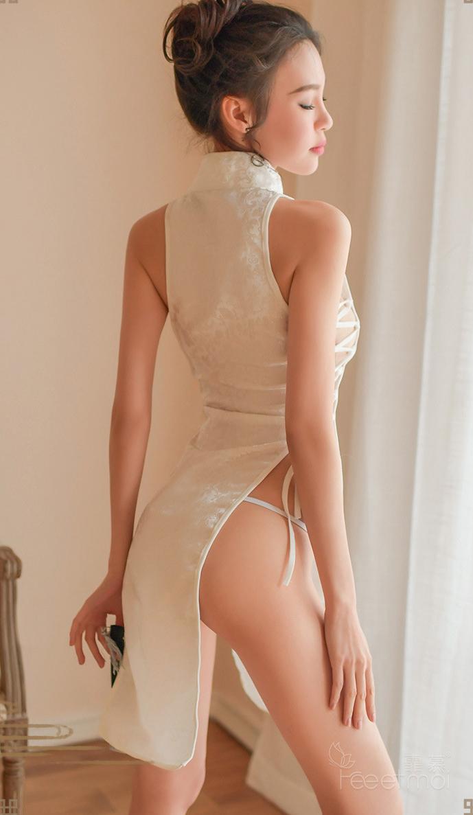 A1 セクシー 誘惑 ワンピース チャイナドレス風 コスチューム レディース ベビードール コスプレ衣装_画像6