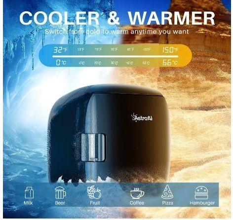 送料無料 AstroAI 冷蔵庫 小型 ミニ冷蔵庫 小型冷蔵庫 車載冷蔵庫 冷温庫 9L 化粧品 小型でポータブル 家庭 車載 保温 保冷 2電源式_画像3