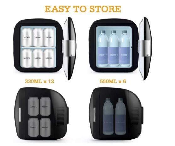 送料無料 AstroAI 冷蔵庫 小型 ミニ冷蔵庫 小型冷蔵庫 車載冷蔵庫 冷温庫 9L 化粧品 小型でポータブル 家庭 車載 保温 保冷 2電源式_画像4