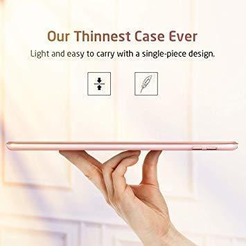 ローズゴール ESR iPad Mini 5 2019 ケース 軽量 薄型 PU レザー スマート カバー 耐衝撃 傷防止 ク_画像4