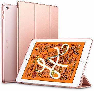ローズゴール ESR iPad Mini 5 2019 ケース 軽量 薄型 PU レザー スマート カバー 耐衝撃 傷防止 ク_画像1