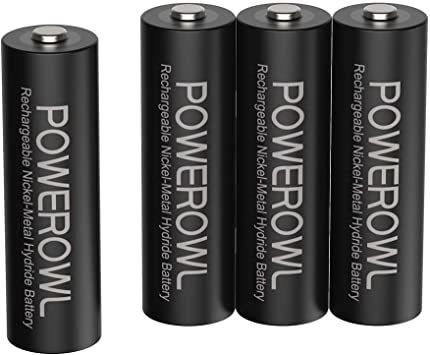 単3形4個パック 単3形充電池2800mAh Powerowl単3形充電式ニッケル水素電池4個パック 超大容量 PSE安全認証_画像1