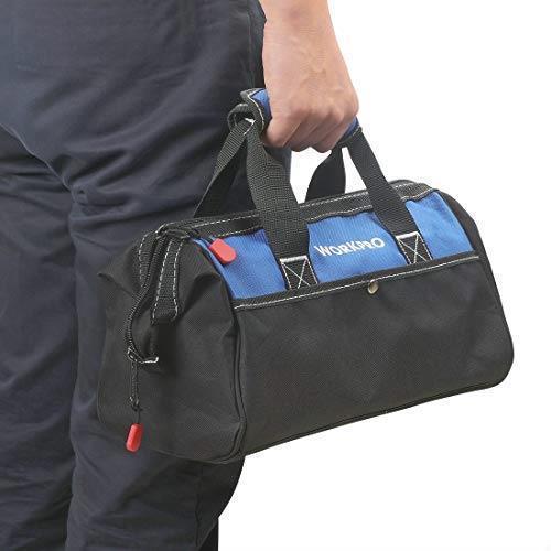 !- WORKPRO ツールバッグ 工具差し入れ 道具袋 工具バッグ 大口収納 600Dオックスフォード ワイドオープン 幅33cm_画像8