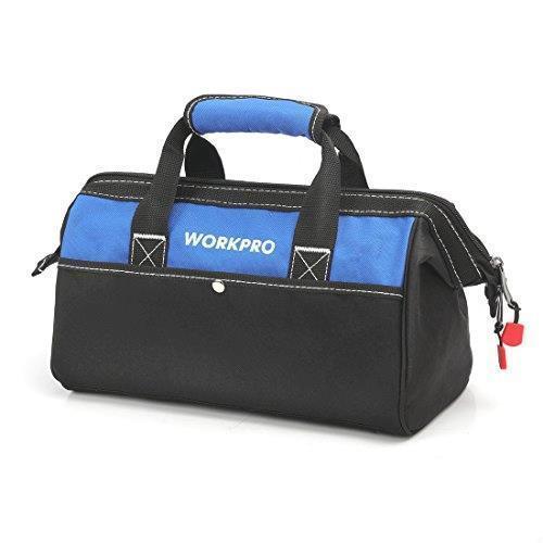 !- WORKPRO ツールバッグ 工具差し入れ 道具袋 工具バッグ 大口収納 600Dオックスフォード ワイドオープン 幅33cm_画像1