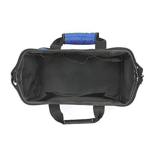 !- WORKPRO ツールバッグ 工具差し入れ 道具袋 工具バッグ 大口収納 600Dオックスフォード ワイドオープン 幅33cm_画像5