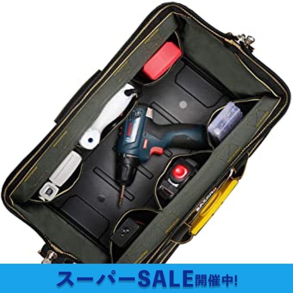 新品【大セール】29x19x19CM YZL ツールバッグ 工具袋 ショルダー ベルト付 肩掛け 手提げ 大口収納 BM0G_画像5