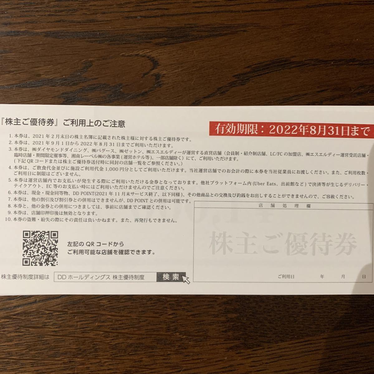 DDホールディングス 株主優待 12,000円_画像2