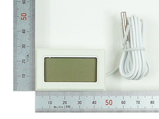 小型 液晶 デジタル温度計 温度計 約48x約29x約16mm 小型温度計 冷蔵庫 温室 室外 室内の温度測定に 測定範囲:-50℃~+110℃ 室温_画像4