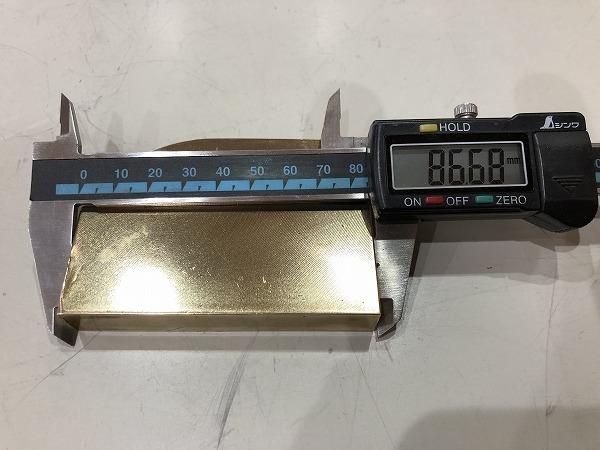 真鍮板 86~55mm×60mm×14mm 黄銅板 端材 アクセサリー・ハンドメイド 【スマートレター発送 180円】_画像4