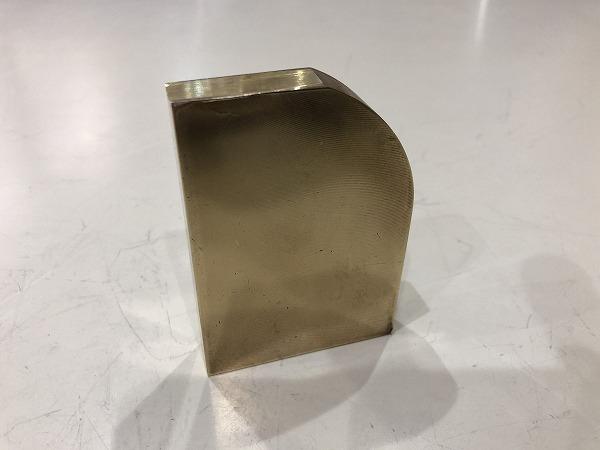 真鍮板 86~55mm×60mm×14mm 黄銅板 端材 アクセサリー・ハンドメイド 【スマートレター発送 180円】_画像1