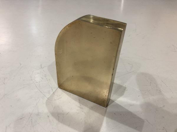 真鍮板 86~55mm×60mm×14mm 黄銅板 端材 アクセサリー・ハンドメイド 【スマートレター発送 180円】_画像2