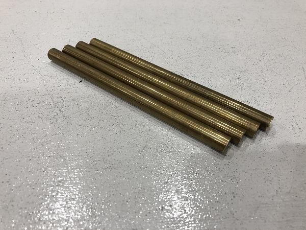 【4本セット】真鍮棒 φ10mm×長さ150mm  真鍮丸棒 端材 工作 ハンドメイド アクセサリー【スマートレター発送 180円】_画像1